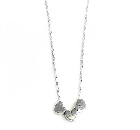 Three Small Hearts Necklace