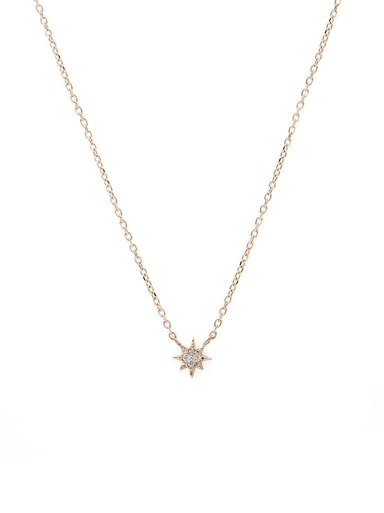 Aztec Micro North Star Necklace RG | Magpie Jewellery
