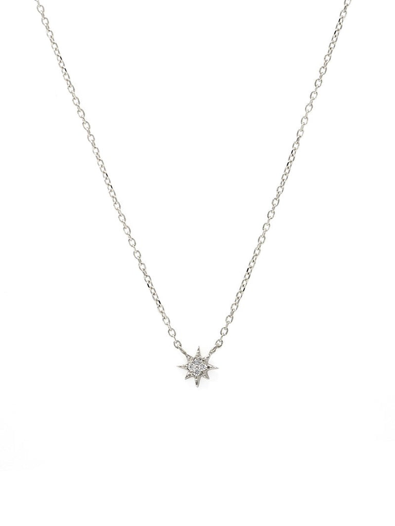 Aztec Micro North Star Necklace WG | Magpie Jewellery