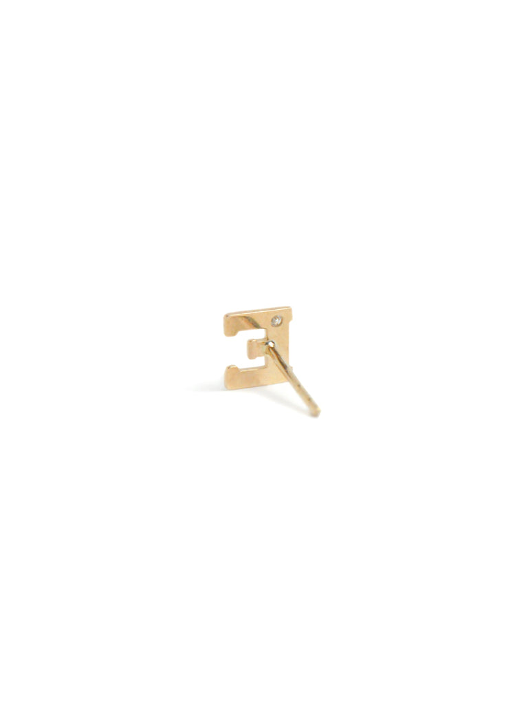 Love Letter single diamond stud E | Magpie Jewellery