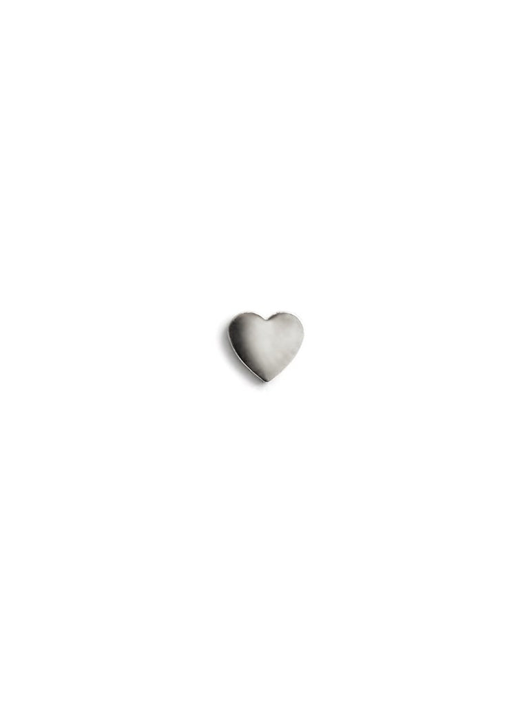 Single Love Letter heart stud - White Gold | Magpie Jewellery