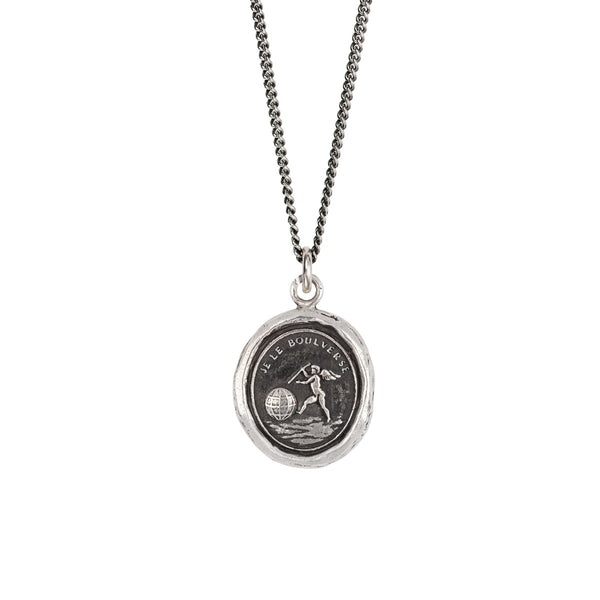 Love Moves the World Talisman-Silver