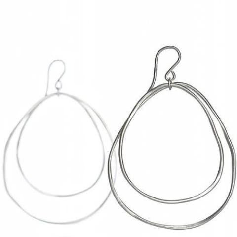 Large Double Loop Earrings