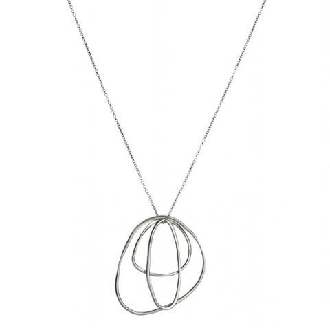 Triple Irregular Shaped Loop Necklace