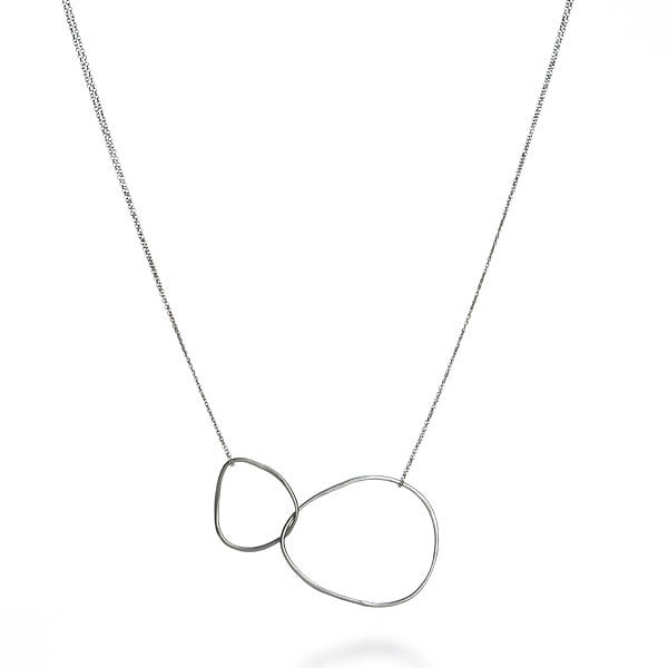 Double Chain Double Loop Necklace