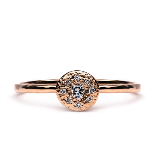 Mini Jupiter Solitaire Diamond & Gold Engagement Ring