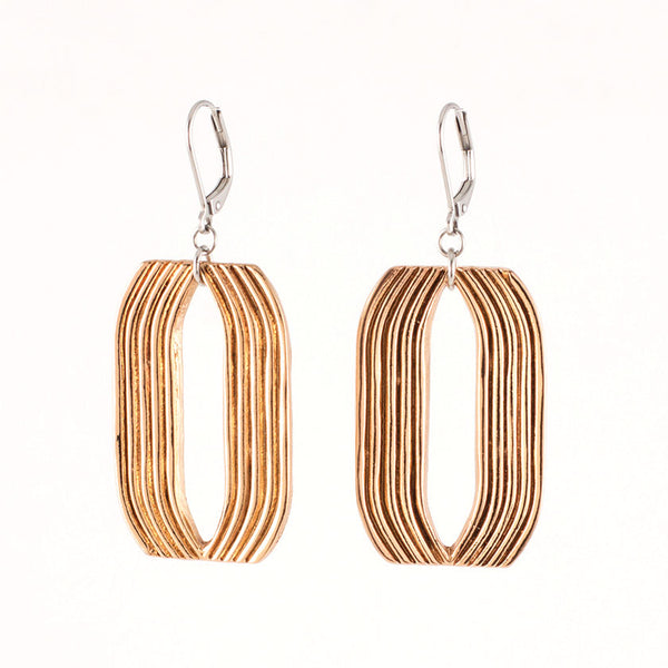 Nanette Earrings-Bronze