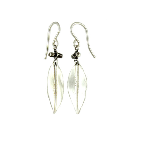 Willow Leaf and Twig Earrings