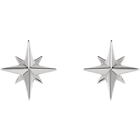 Star Studs - White Gold