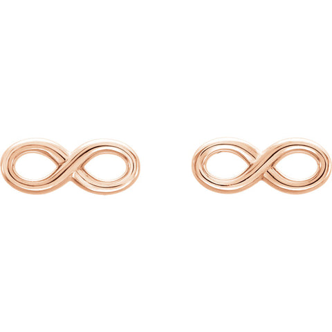 Infinity Studs - Rose Gold