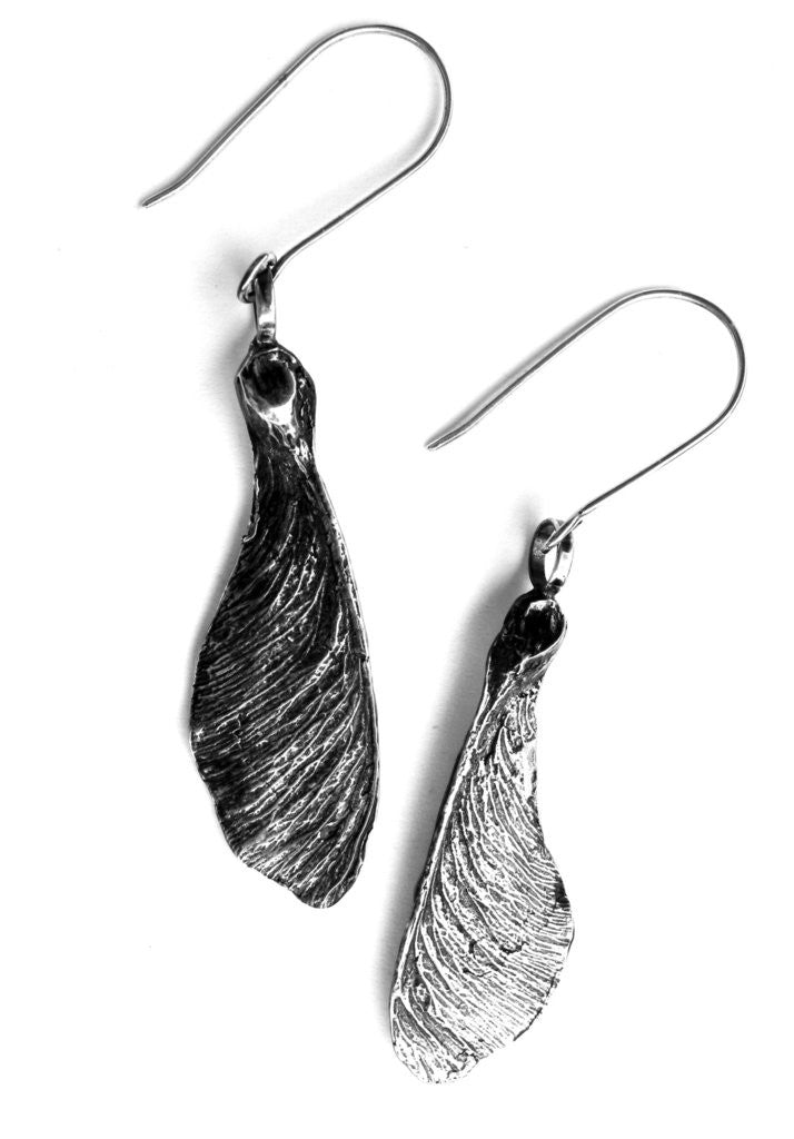 Silver Sycamore Earrings