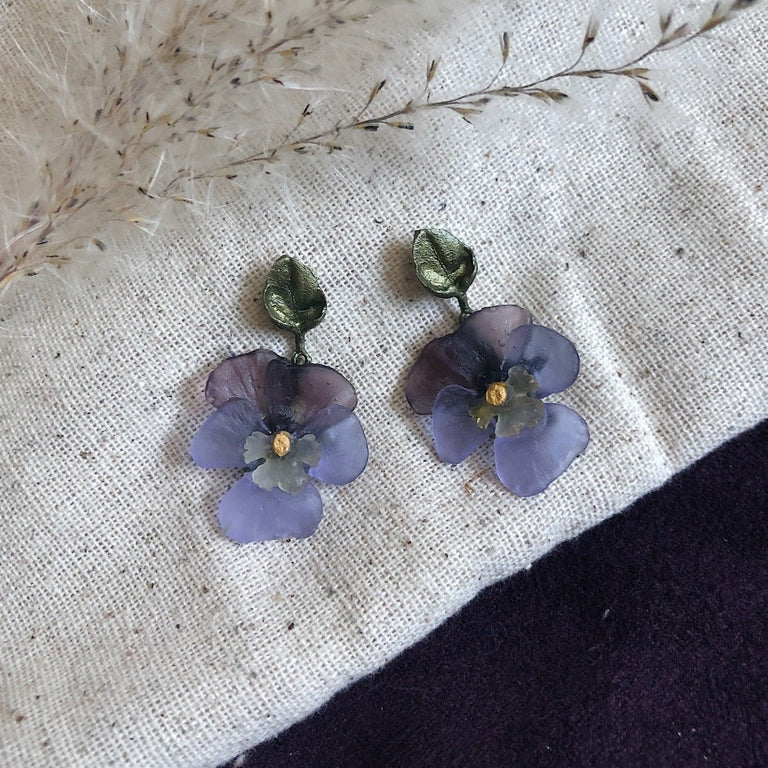 Pansy Drop Earrings
