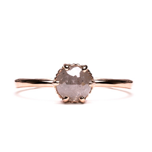 Claw Solitaire Diamond & Gold Engagement Ring | Magpie Jewellery