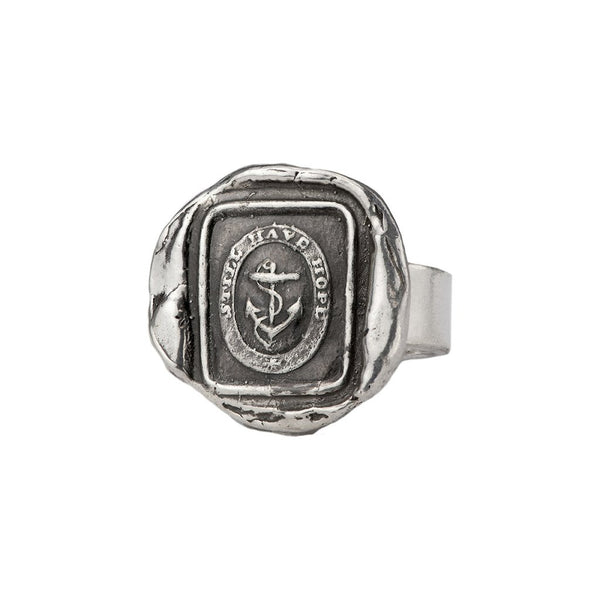 Anchor Talisman Ring Silver | Magpie Jewellery