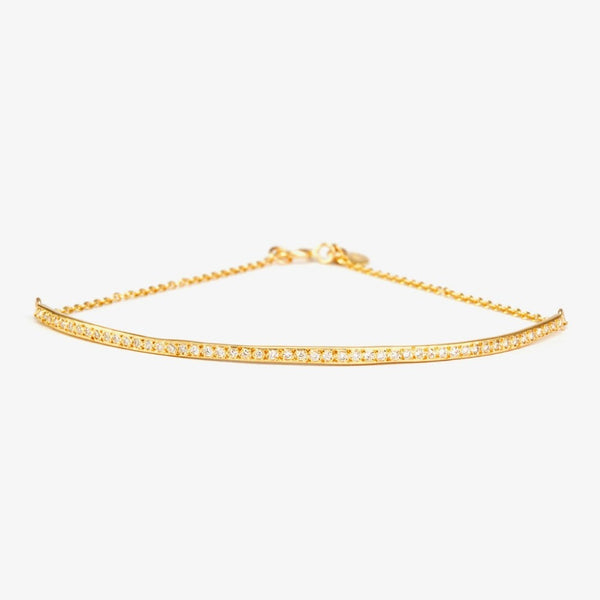 Linear Curve Diamond Bracelet | Magpie Jewellery