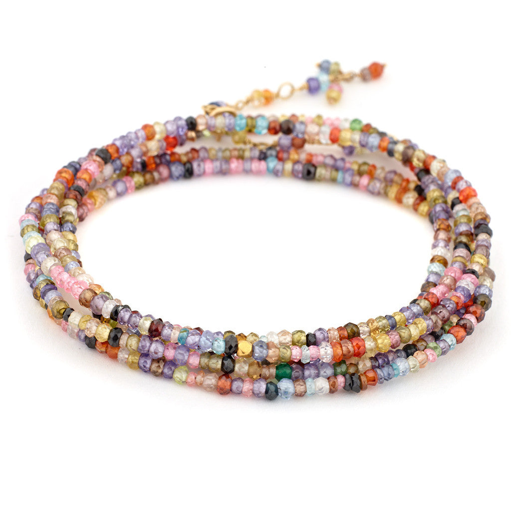 Multi Coloured Cubic Zirconia Wrap Bracelet