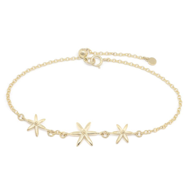 Triple Star Bracelet YG | Magpie Jewellery