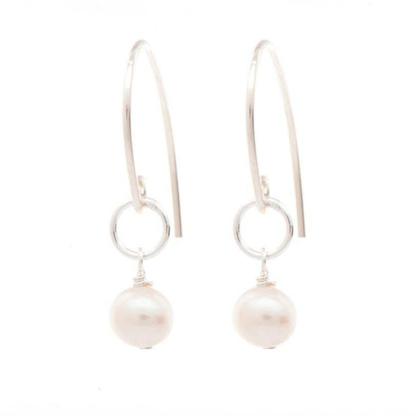 Freefall Pearl Earring Silver | Magpie Jewellery