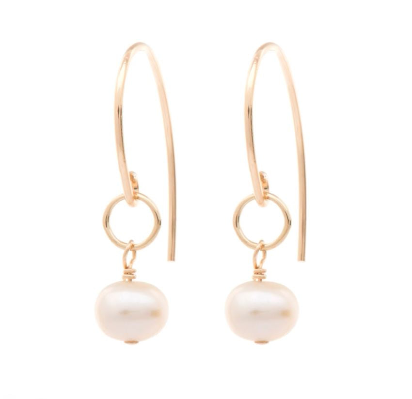 Freefall Pearl Earring Gold Fill | Magpie Jewellery