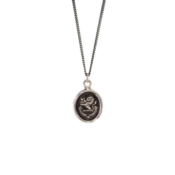 Brave in Difficulties Talisman Silver | Magpie Jewellery