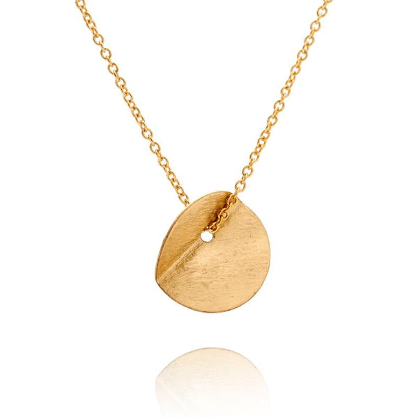 """Eucalyptus"" Small Single Pendant - Yellow Gold-Fill"