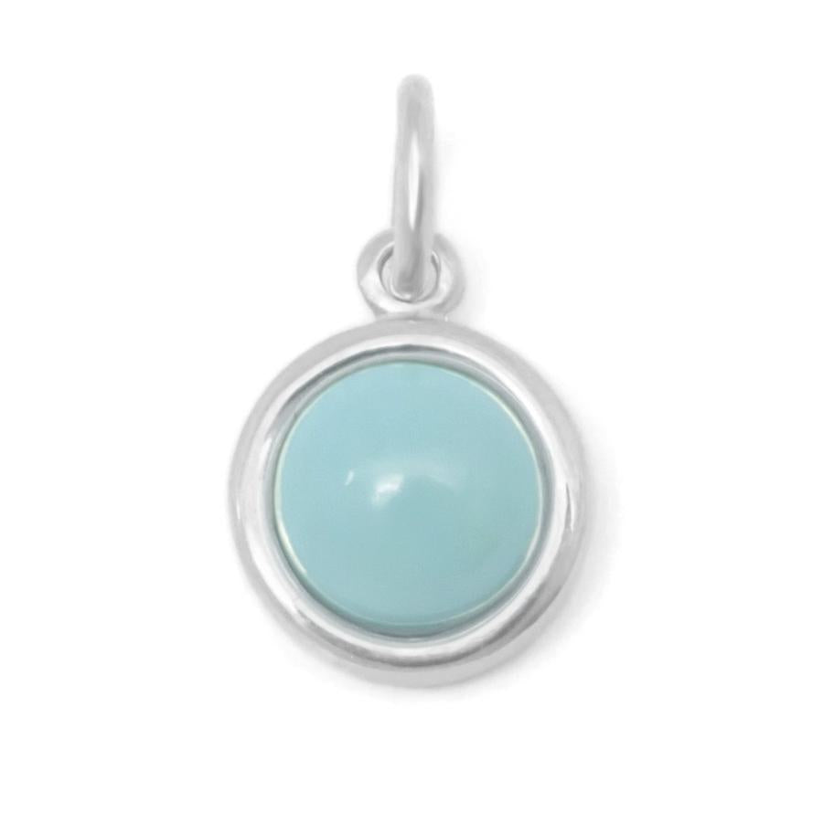 Gemstone Cup Charm - Turquoise WG