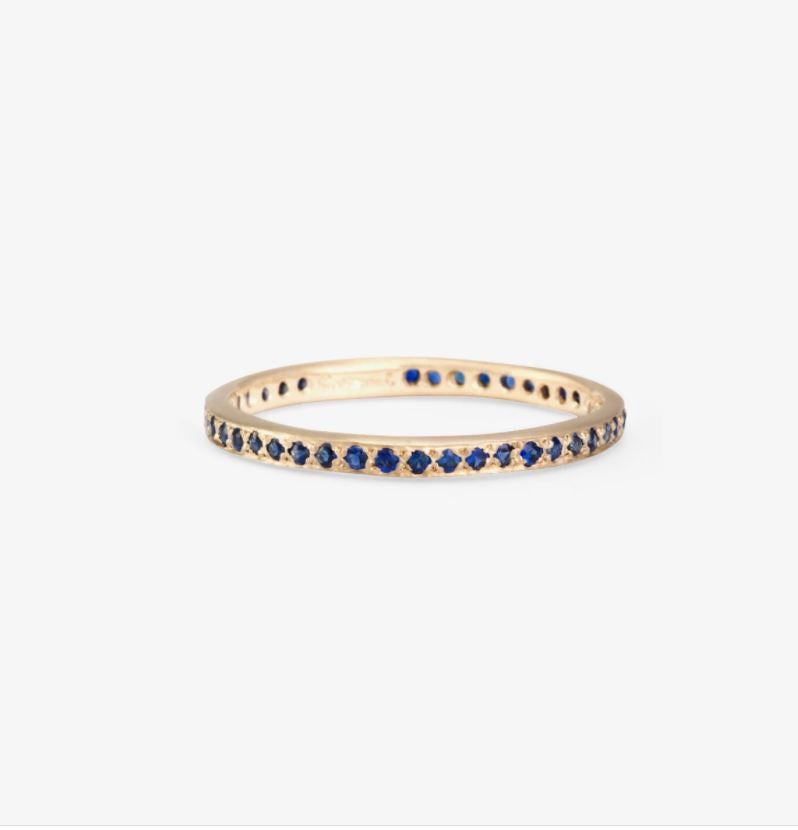 Sapphire Eternity Band WG | Magpie Jewellery