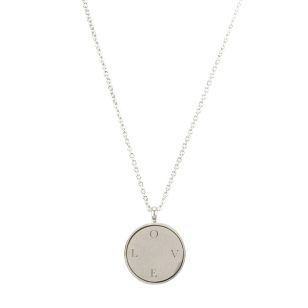 L-O-V-E Disc Necklace