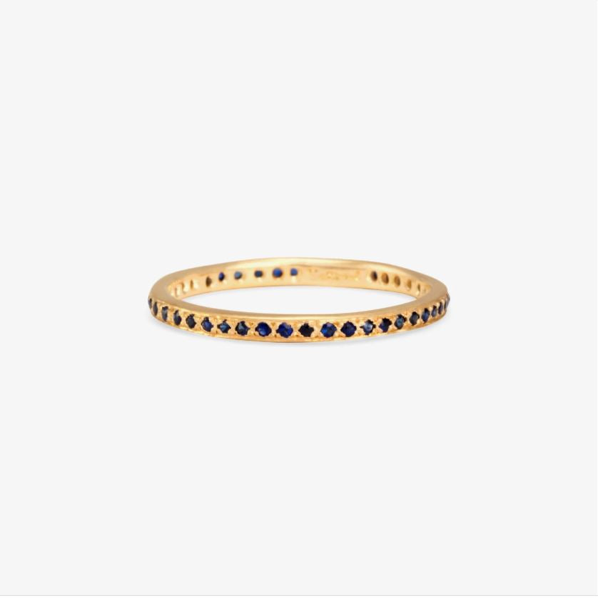 Sapphire Eternity Band YG | Magpie Jewellery