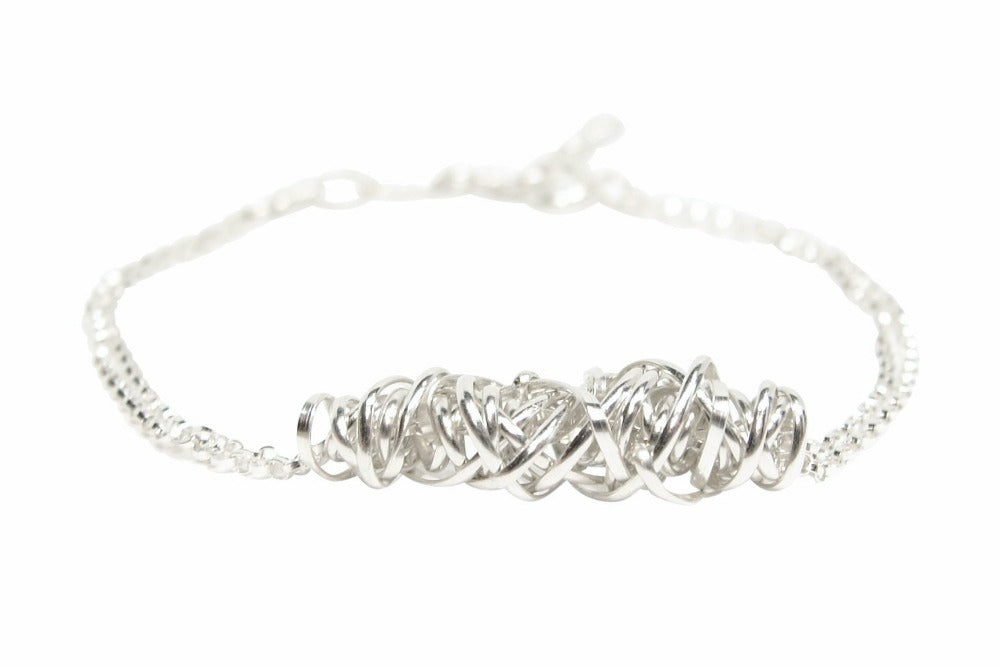 Twist Bracelet - Small | Magpie Jewellery | Silver | Detail Shot