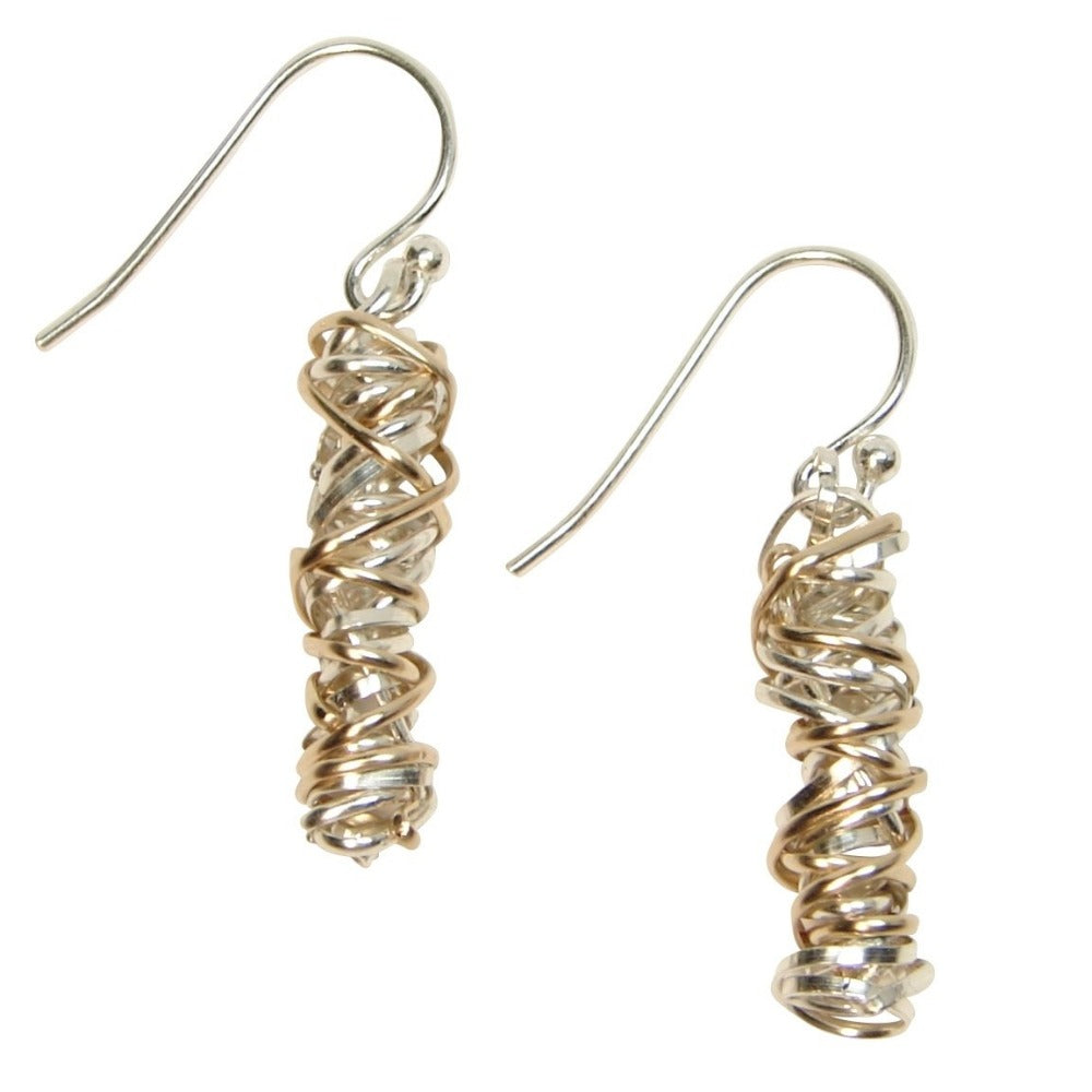 Twist Earring - Small | Magpie Jewellery | Mixed Metals on Silver Hooks