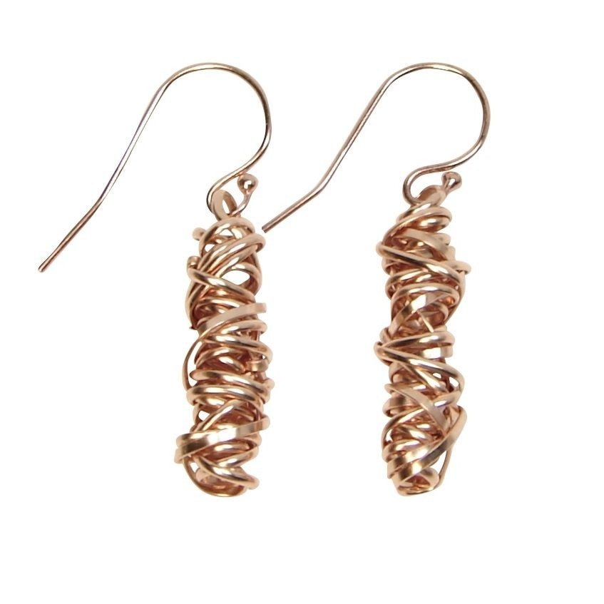 Twist Earring - Small | Magpie Jewellery | Rose Gold