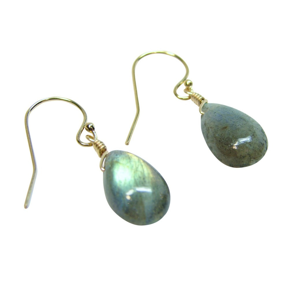 Gemstone Solo Earring | Magpie Jewellery | Yellow Gold | Labradorite