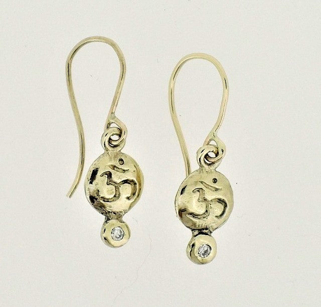 Diamond Baby Om Bindi Earrings | Magpie Jewellery