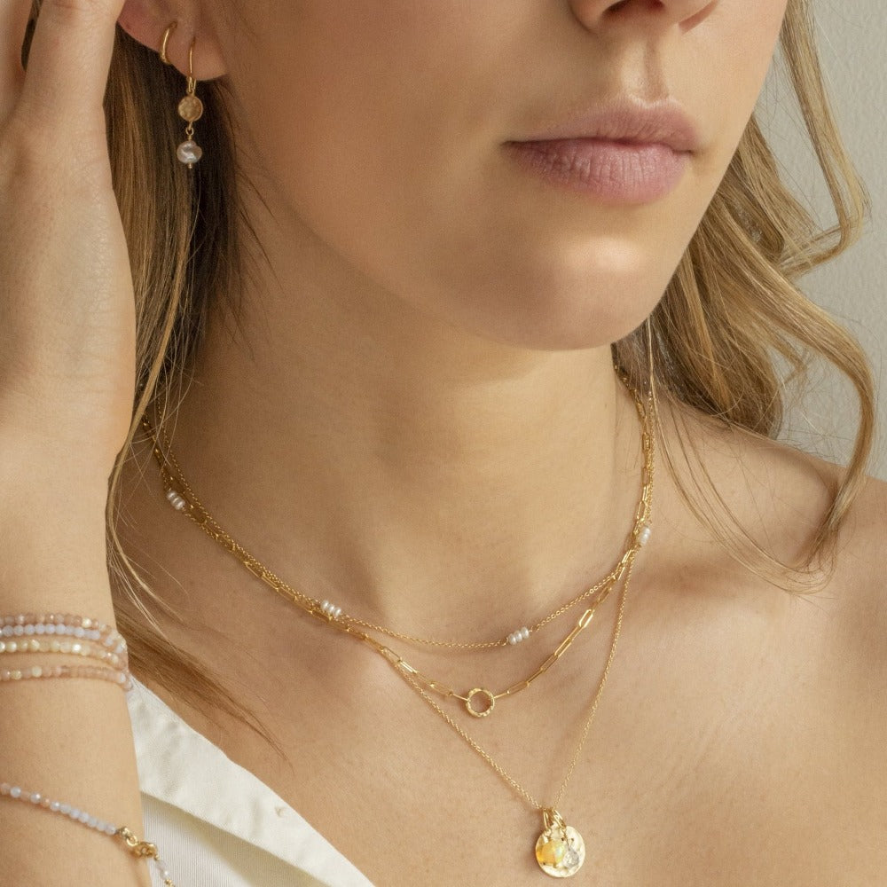 Luna Freshwater Pearl Station Necklace