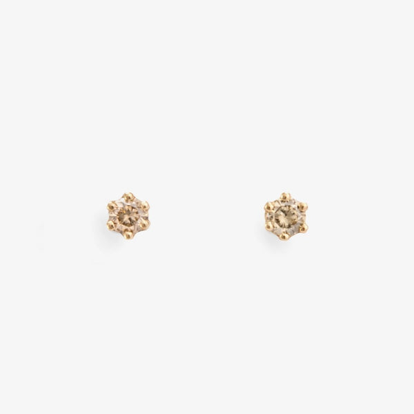 Baby Brown Diamond Studs