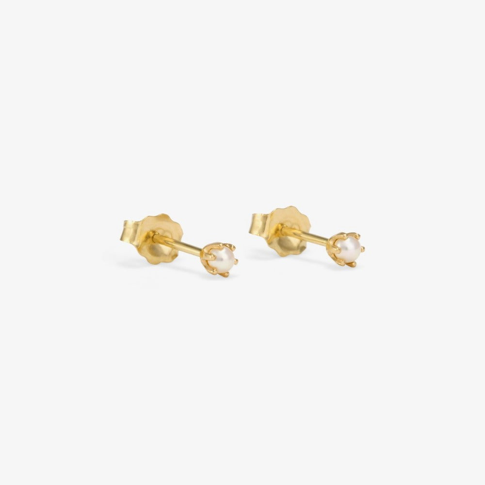 Baby Pearl 6 Prong Studs | Magpie Jewellery