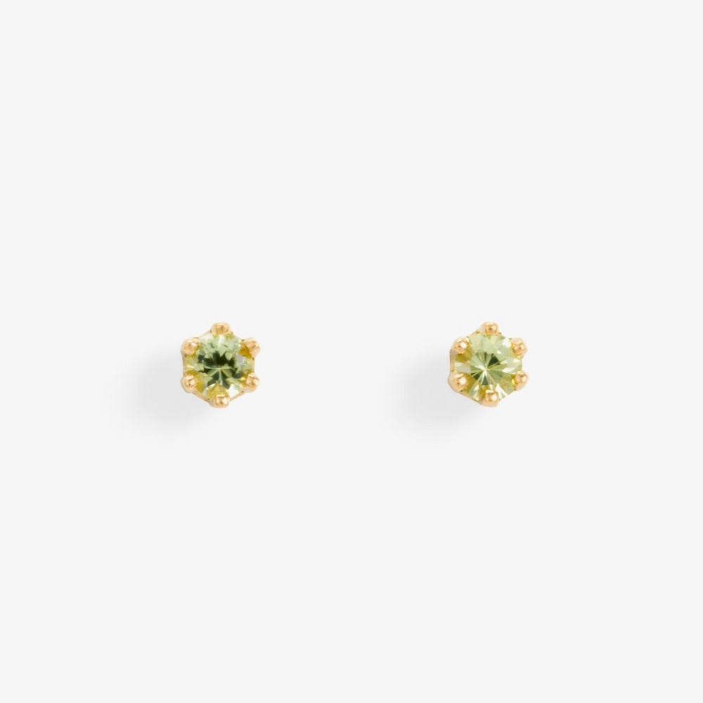Baby Peridot 6 Prong Studs | Magpie Jewellery