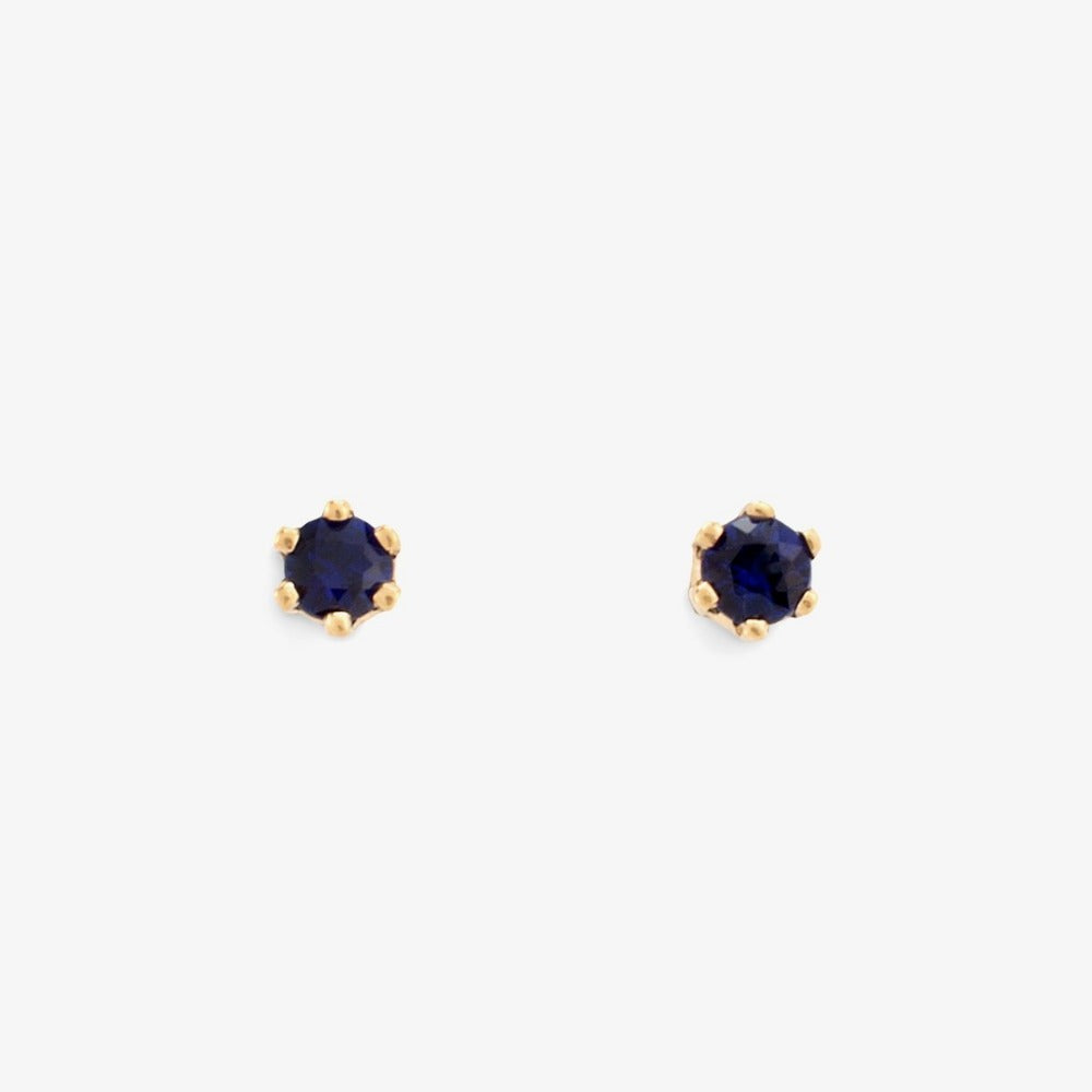 Baby Sapphire 6 Prong Studs | Magpie Jewellery