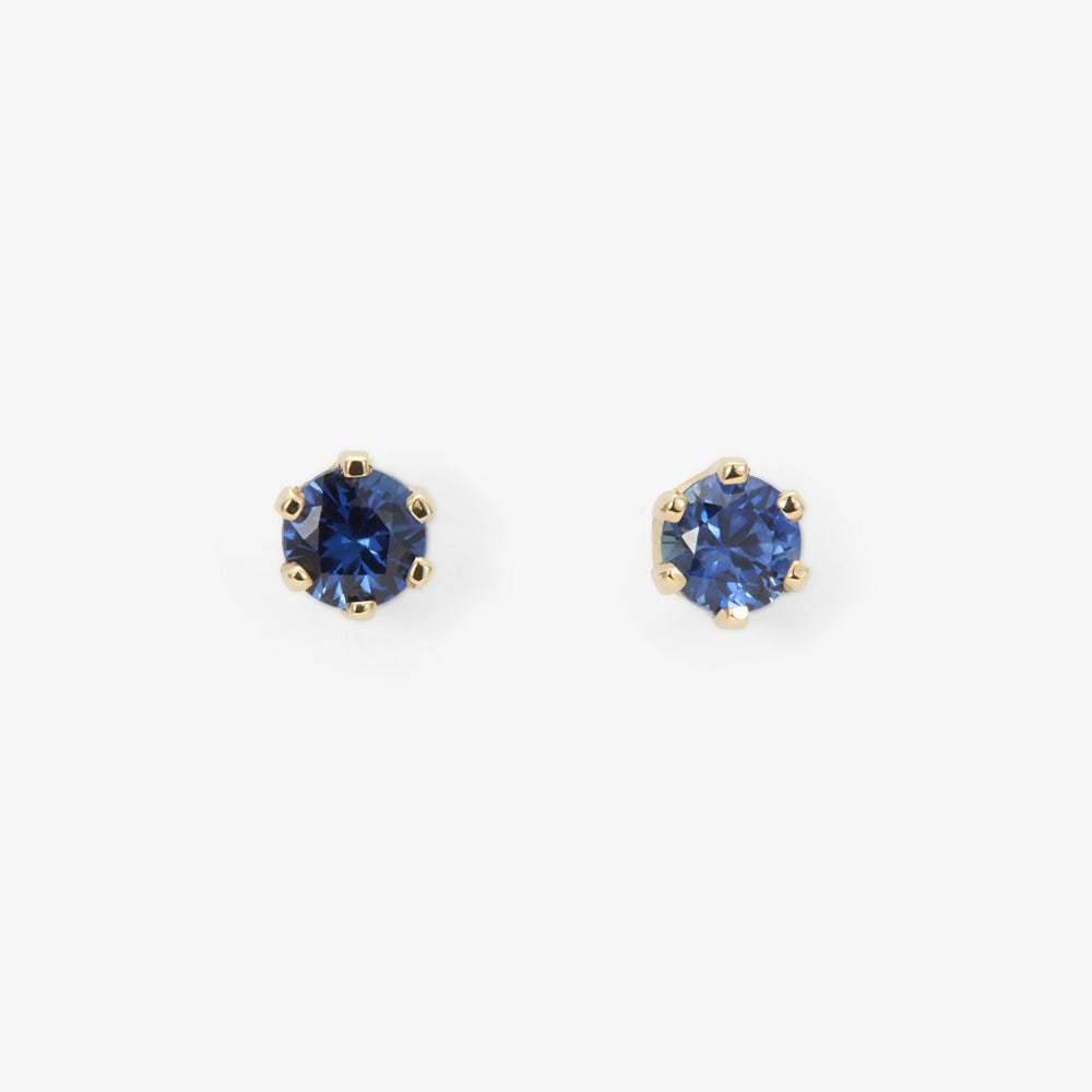 6 Prong Sapphire Stud | Magpie Jewellery