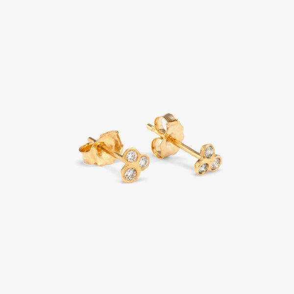 Triple Diamond Stud Earrings | Magpie Jewellery