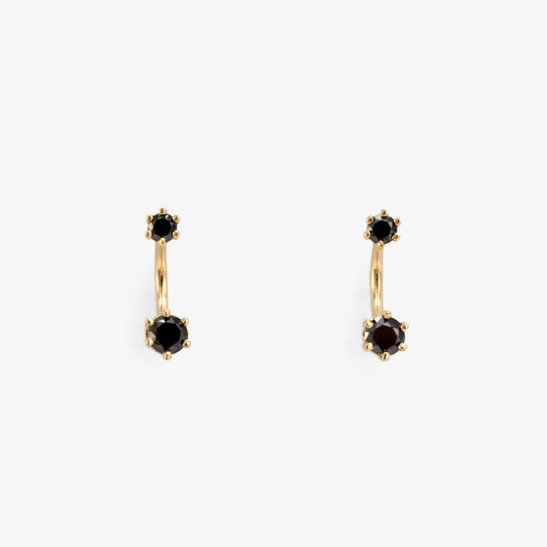 Twin Black Diamond Studs | Magpie Jewellery