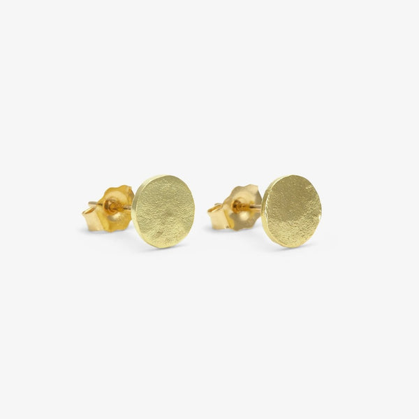 18k Yellow Gold Dot Studs | Magpie Jewellery