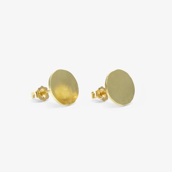18k Yellow Gold Ovate Studs | Magpie Jewellery