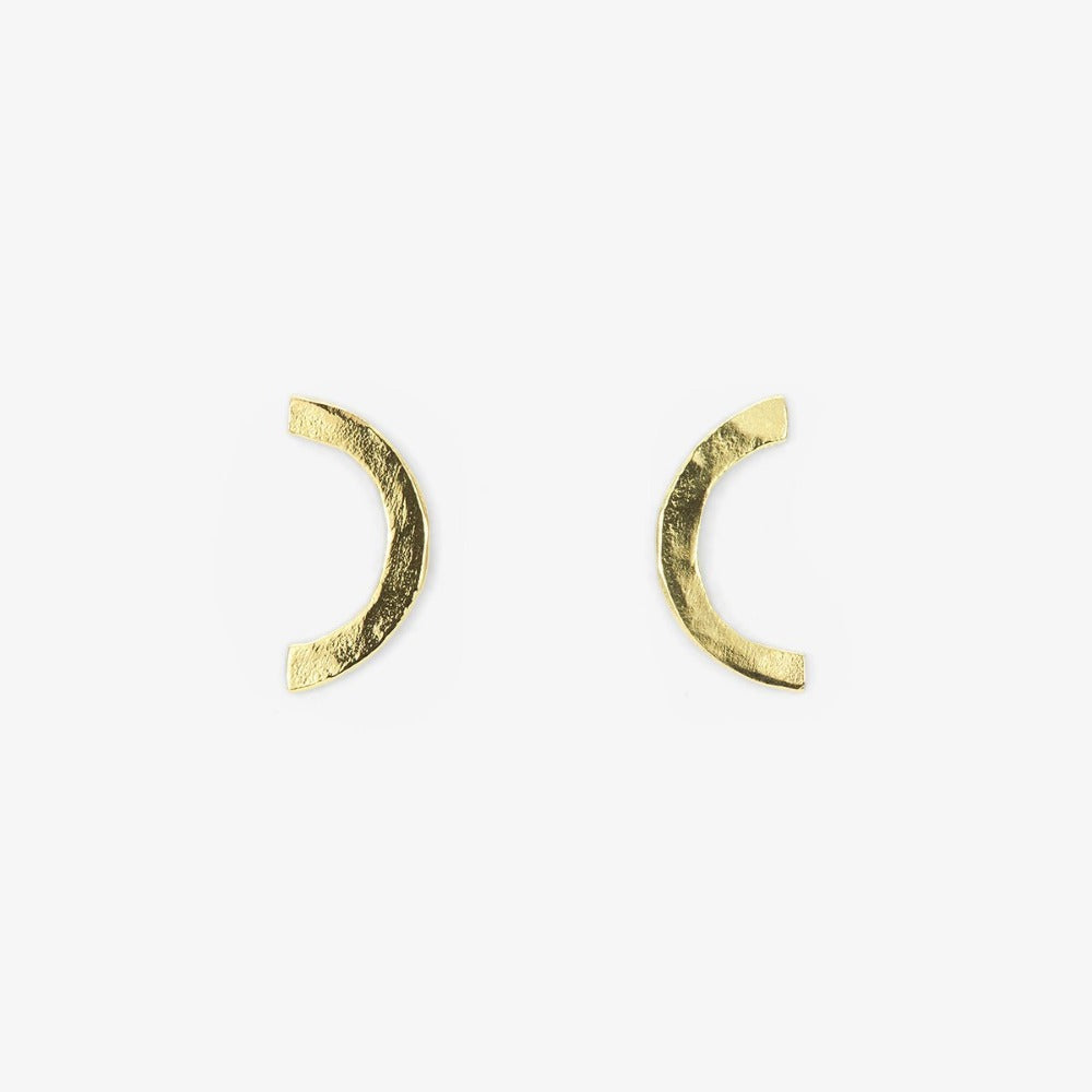 18k Yellow Gold Arc Studs | Magpie Jewellery