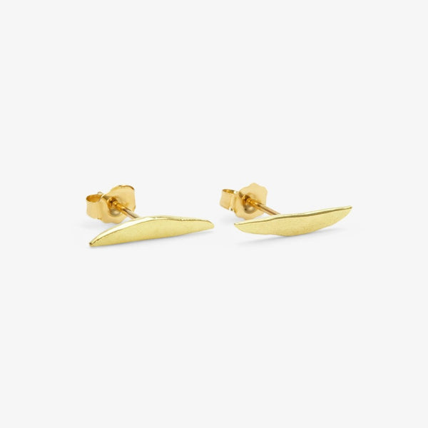 18k Yellow Gold Tail Studs | Magpie Jewellery