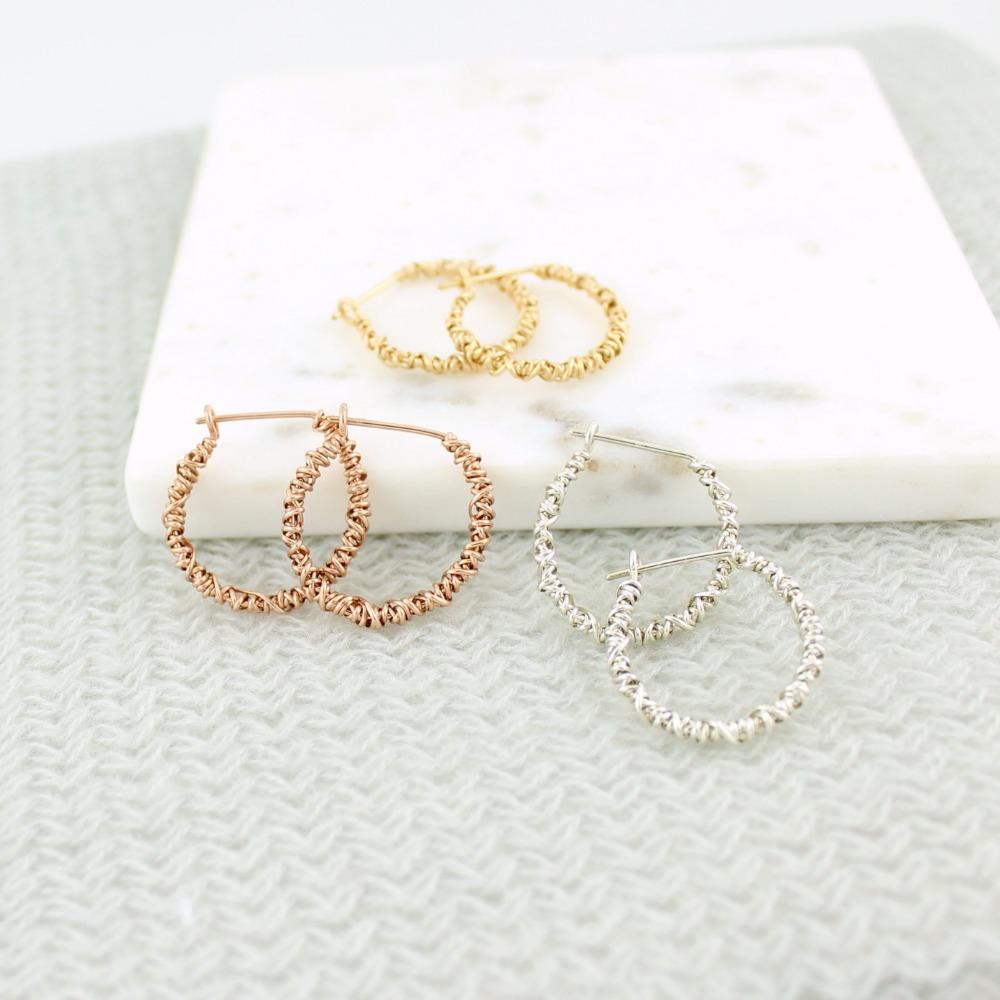 The 20/20 Hoop Earring | Magpie Jewellery | Yellow Gold | Silver | Rose Gold | Listed Clockwise