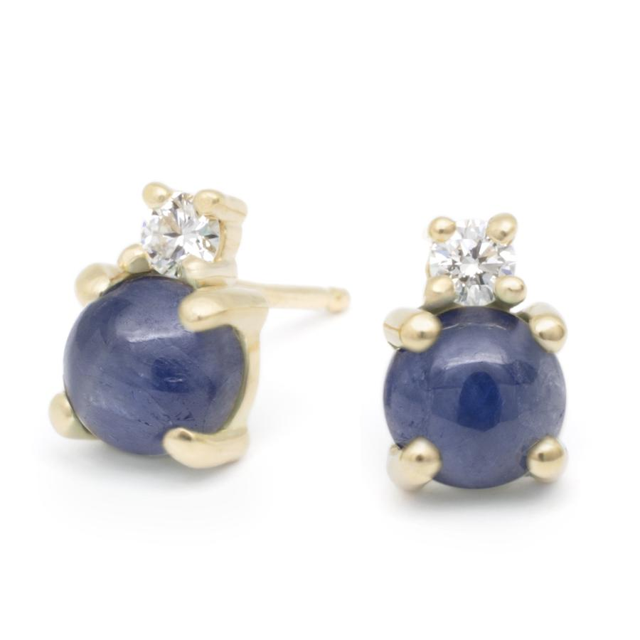 Diamond Duo Earrings - Blue Sapphire