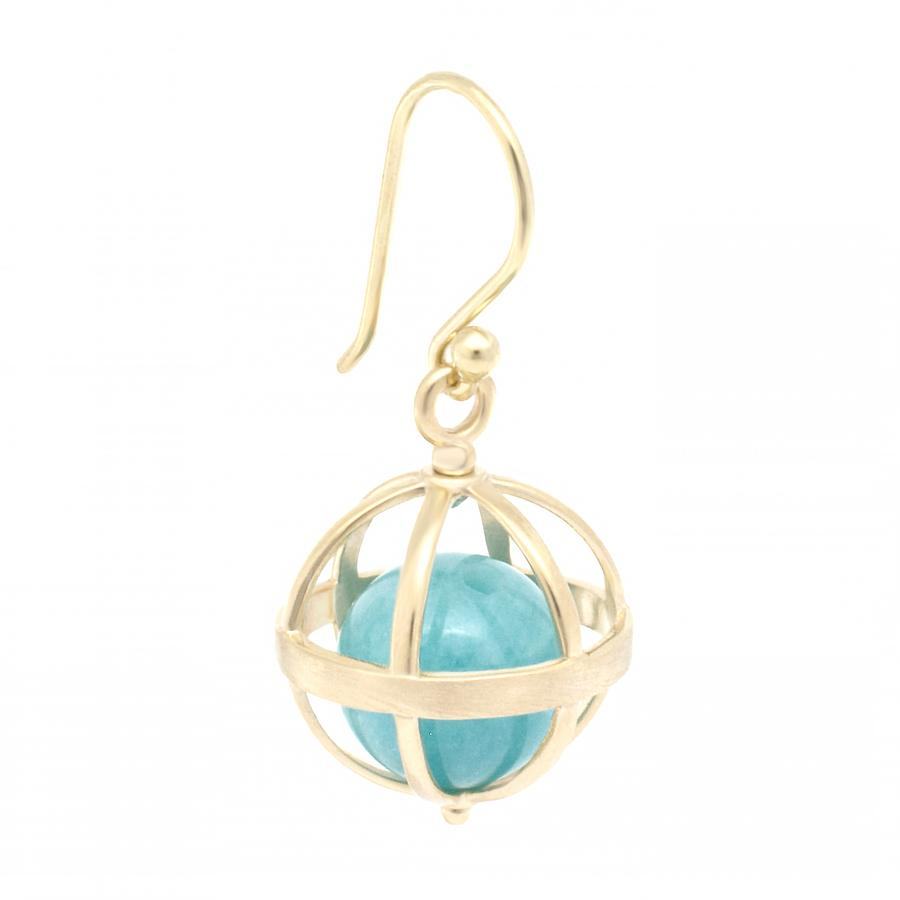 Medium Cage Earring Amazonite | Magpie Jewellery
