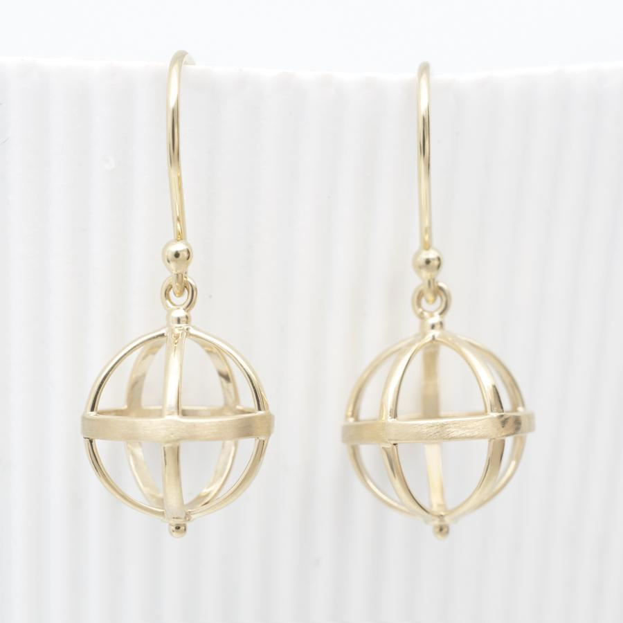 Medium Cage Earring no gemstone WG | Magpie Jewellery